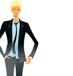 Business man in suit vector