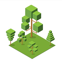 Isometric tree 380 vector