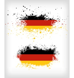 Grunge german ink splattered flag vector