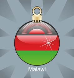 Malawi flag on bulb vector
