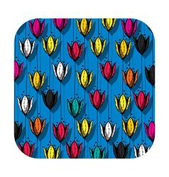 Tulip field button vector