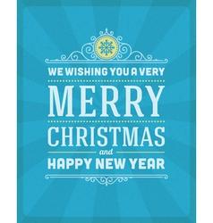 Merry christmas postcard ornament decoration vector