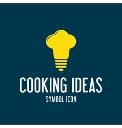 Cooking ideas concept symbol icon or logo template vector