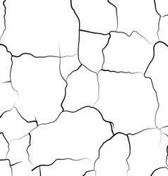 Cracked grunge background vector