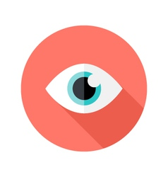 Vision eye circle flat icon vector