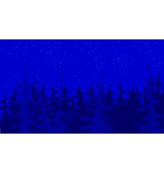Background blue forest vector