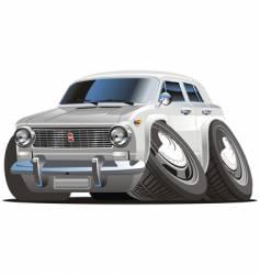 Retro cartoon car vector