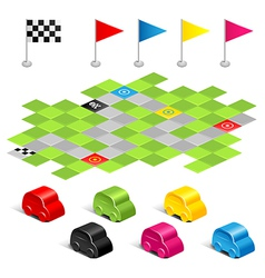 Game racing vector