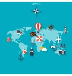 Abstract mapworld travel concept background vector