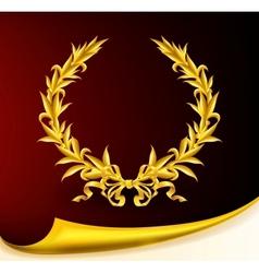 Rich golden wreath vector