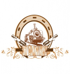 Wild west vignette vector