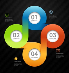 Modern business circle options banner vector