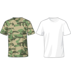 Mens white and military shirts template vector