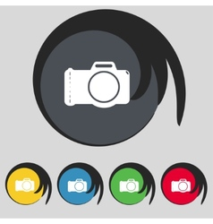 Photo camera sign icon digital symbol set vector