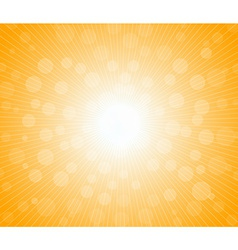 Hot sun lights abstract summer background vector