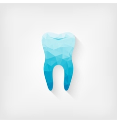 Tooth blue polygon symbol vector