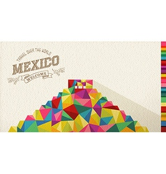 Travel mexico landmark polygonal monument vector