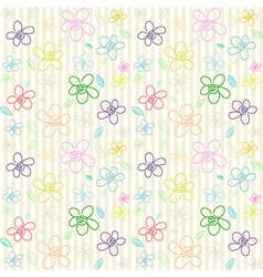 Flower pattern color 02 vector