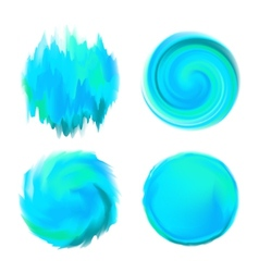 Abstract round watercolor backgrounds in shades of vector