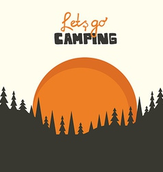 Camping background vector