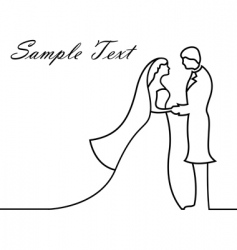 Sketchy wedding card vector