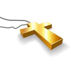 Golden crucifix vector