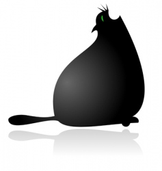 Fat cat vector