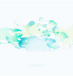 Colorful watercolor spots on a white background vector
