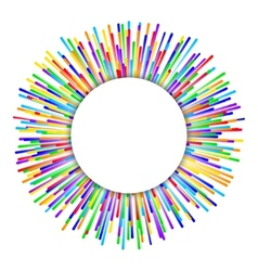Rainbow fireworks background vector