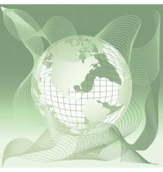 Globe world map abstract background vector