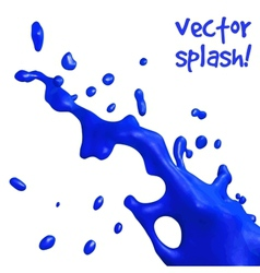 Blue splash vector