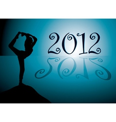 Yoga background with new year 2012 date vector