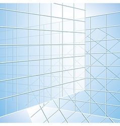 Transparent wall - blue windows vector