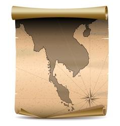 Thailand vintage map vector