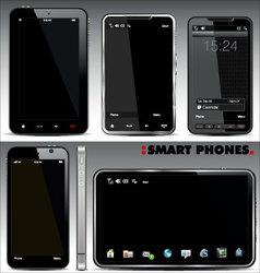 Smart phones set vector