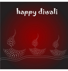 Diwali card vector