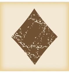 Grungy diamonds icon vector
