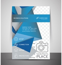 Cmyk business corporate flyer template vector
