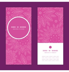Pink abstract flowers texture vertical round frame vector