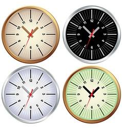 Metal clock office vector