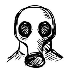 Man in a respirator vector