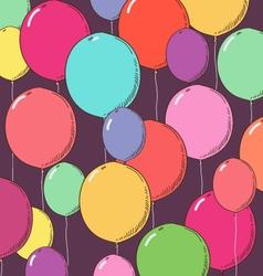 Balloon background vector