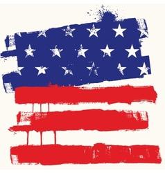 Usa paint flag vector