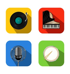 Music and party icons vector