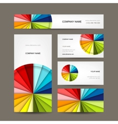 Business cards collection for your design vector