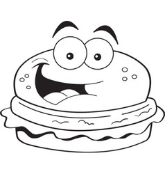Cartoon hamburger vector