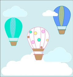 Hot air ballons chevron vector