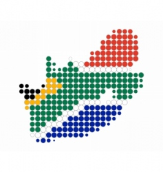 South africa map and flag vector