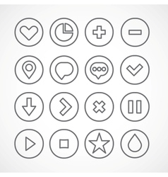 Web icons collection simple clean shapes vector