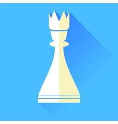 Queen chess icon vector